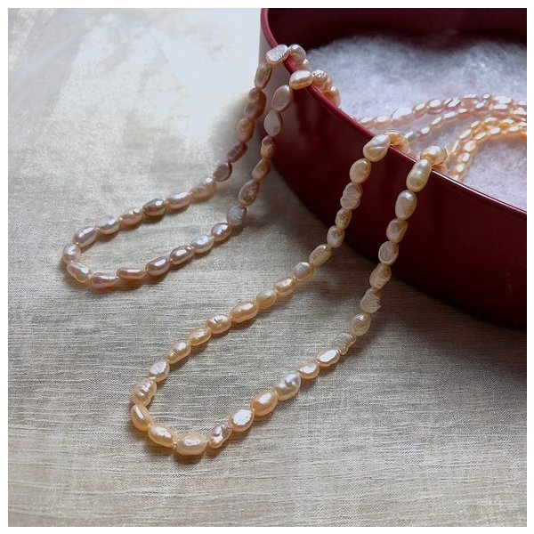 SALE 淡水パール 連 バロック ライス 小粒 40cm パーツ 素材 真珠 パープル系|yusa-jewelry|05