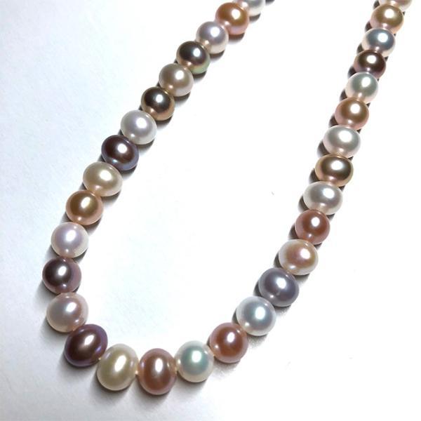 淡水パール 連 ポテト 小粒 40cm パーツ 素材 真珠 マルチカラー セミラウンド系 yusa-jewelry 02