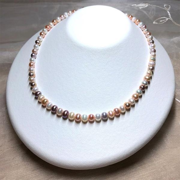 淡水パール 連 ポテト 小粒 40cm パーツ 素材 真珠 マルチカラー セミラウンド系 yusa-jewelry 03