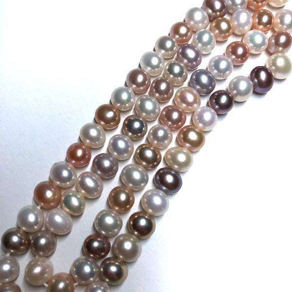 淡水パール 連 ポテト 小粒 40cm パーツ 素材 真珠 マルチカラー セミラウンド系 yusa-jewelry 04