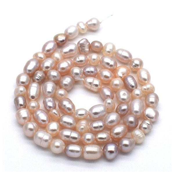 連40cm ミックス バロック淡水パール ポテト ライス マルチカラー ナチュラルカラー 素材 パーツ 材料 本真珠|yusa-jewelry
