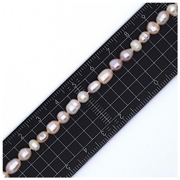連40cm ミックス バロック淡水パール ポテト ライス マルチカラー ナチュラルカラー 素材 パーツ 材料 本真珠|yusa-jewelry|03