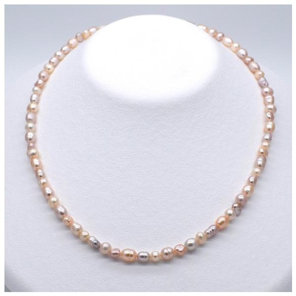 連40cm ミックス バロック淡水パール ポテト ライス マルチカラー ナチュラルカラー 素材 パーツ 材料 本真珠|yusa-jewelry|04