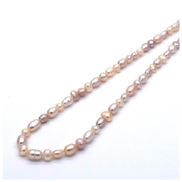 連40cm ミックス バロック淡水パール ポテト ライス マルチカラー ナチュラルカラー 素材 パーツ 材料 本真珠|yusa-jewelry|06