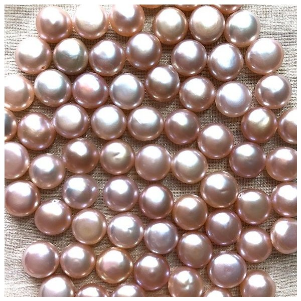淡水パール バロック ボタン 小粒 ベビー パーツ 素材 真珠 ピンクパープル系 1粒 5mm|yusa-jewelry