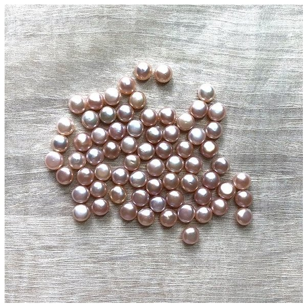 淡水パール バロック ボタン 小粒 ベビー パーツ 素材 真珠 ピンクパープル系 1粒 5mm|yusa-jewelry|02