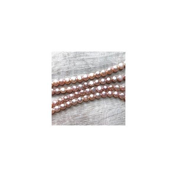 淡水パール バロック ボタン 小粒 ベビー パーツ 素材 真珠 ピンクパープル系 1粒 5mm|yusa-jewelry|03