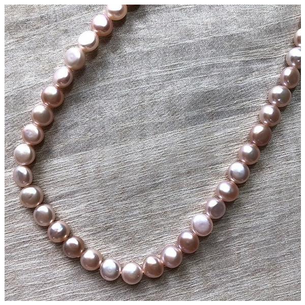 淡水パール バロック ボタン 小粒 ベビー パーツ 素材 真珠 ピンクパープル系 1粒 5mm|yusa-jewelry|04