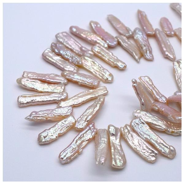 淡水パール びわ クレオ穴 ケシ バロック ピンクオレンジ系 パーツ 素材 真珠 1粒 17~25mm ビーズ|yusa-jewelry