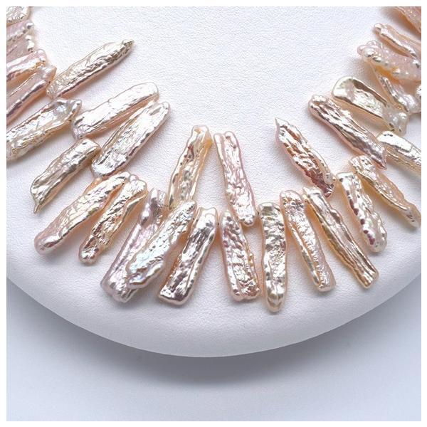 淡水パール びわ クレオ穴 ケシ バロック ピンクオレンジ系 パーツ 素材 真珠 1粒 17~25mm ビーズ|yusa-jewelry|04