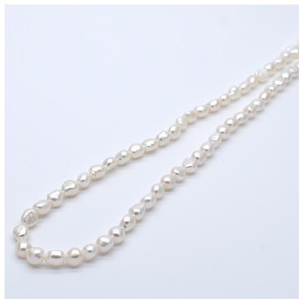 淡水真珠 バロックボタンライス 1粒 5~7mm 貫通穴 ホワイト系  パール ビーズ パーツ|yusa-jewelry|03