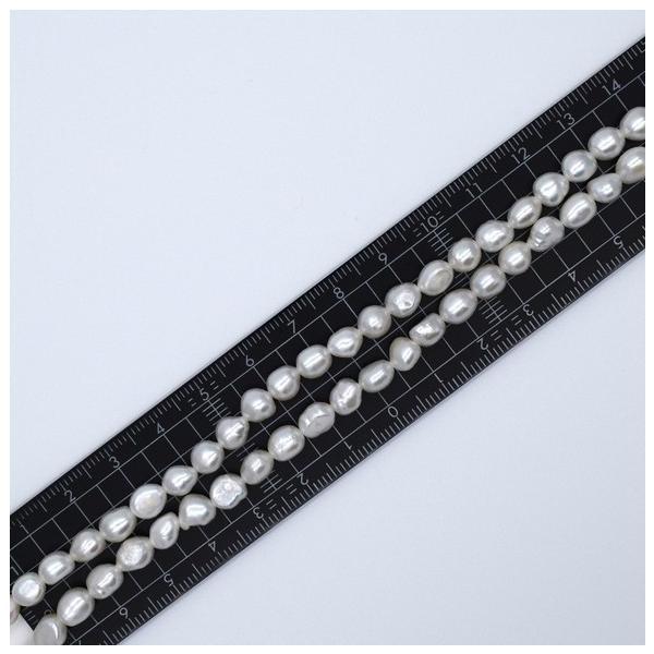 淡水真珠 バロックボタンライス 1粒 5~7mm 貫通穴 ホワイト系  パール ビーズ パーツ|yusa-jewelry|05