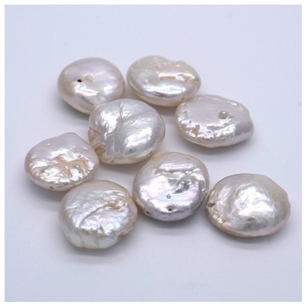 淡水パール 訳あり バロック オーロラ コイン 本真珠 パーツ 素材 ビーズ  15~20mm 1粒|yusa-jewelry|02