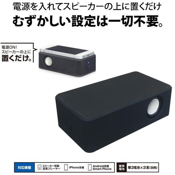iphone/スマートフォン対応 接続不要ワイヤレススピーカー 置くdakeSPEAKER ブラック .