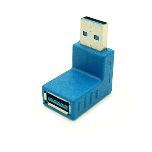 L型90度 USB3.0 方向変換アダプター 《下向き》 .