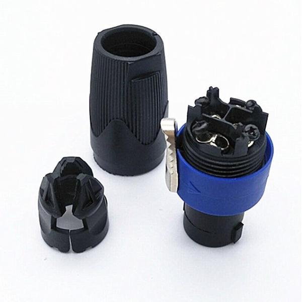 4芯 スピーカー用ケーブルコネクター スピコン ケーブルヘッド プラグ .