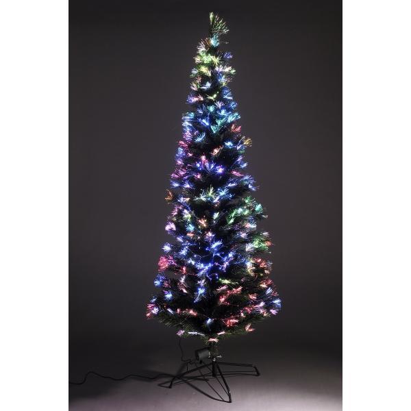 120cm ファイバーツリー グリーン クリスマスツリーに最適! 高輝度LED ..|yusyo-shopping