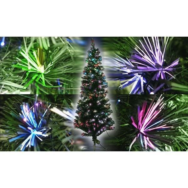 180cm ファイバーツリー グリーン クリスマスツリーに最適! 高輝度LED ..|yusyo-shopping|03