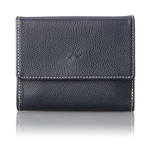 キタムラ 二折財布キズが目立ちにくい型押しPH0537