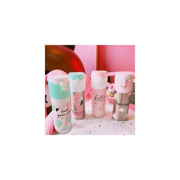 水筒 直飲み ステンレスボトル 水筒 魔法瓶 保温 便利 オシャレ 可愛いJZAH3-AL153|yutaka-s