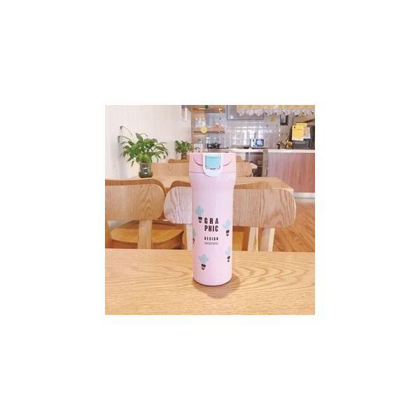 水筒 直飲み ステンレスボトル 水筒 魔法瓶 保温 便利 オシャレ 可愛いGZAH-AL66 yutaka-s 06