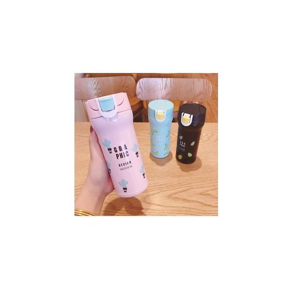 水筒 直飲み ステンレスボトル 水筒 魔法瓶 保温 便利 オシャレ 可愛いGZAH-AL66 yutaka-s 09