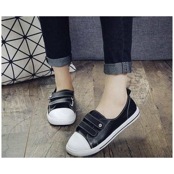 スニーカー レディース スリッポン カジュアル シューズ 歩きやすい ローヒール 痛くない 履きやすい ホワイト シンプル 婦人靴