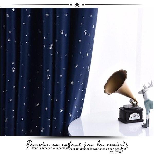 カーテン 遮光 1級 2枚組 安い 遮光カーテン 遮熱 断熱 UVカット 省エネ おしゃれ 北欧 防音 昼夜透けない シンプル 星柄 サイズ多数 厚地|yutaka-s|06