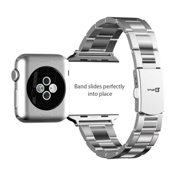 JEDirect Apple Watch 用バンド 38mm と 40mm Series 1 2 3 4対応 ステンレス留め金製 シルバー|yutakanaseikatu|05