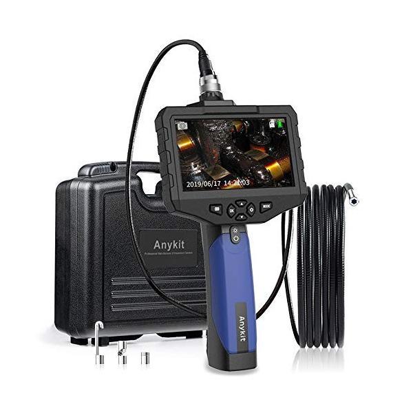 SDカード対応式工業内視鏡 Anykit内視鏡カメラ 4.3インチ大型液晶モニターファイバースコープ 100万画素COMSカメラ搭載エンドス|yutakura|02