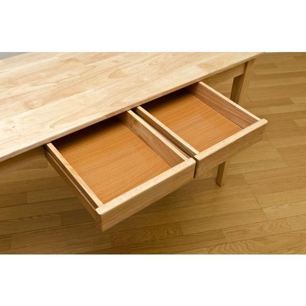 木製引出し付テーブル 150×45cm   楽天ランキング1位獲得|yutoriplan|05