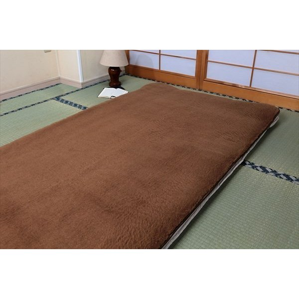 キャメルハイパイル敷きパッド セミダブル 送料無料|yutoriplan|04