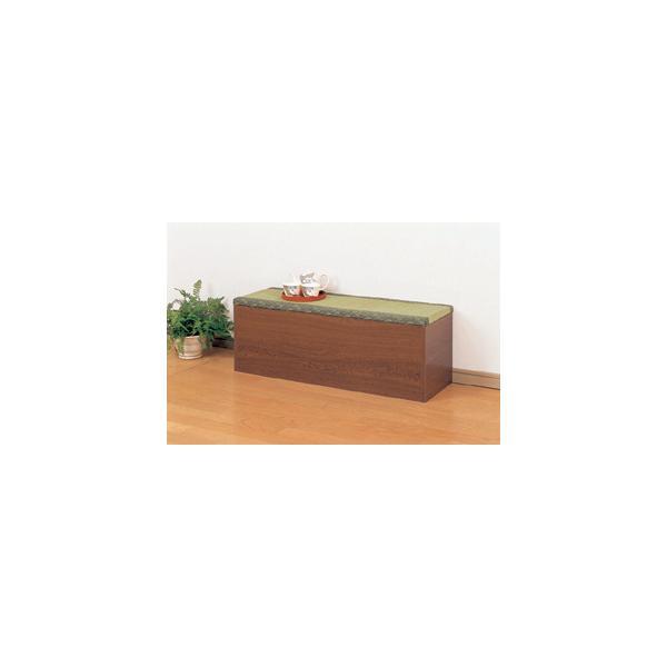 収納たたみベンチ90 32385 和室和風家具ソファボックス収納箱2人掛け収納庫モダンチェア椅子ベンチシンプルアンティーク風スツール長