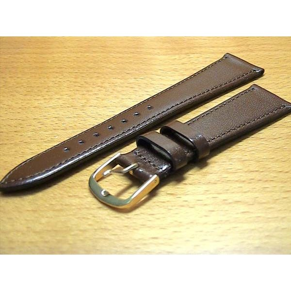 19mm 腕時計用 バンド ベルト 19ミリ 牛革 (カーフ) 腕時計用 ベルト バンド 茶色 バネ棒 サービス つき|yuubido-oyabu