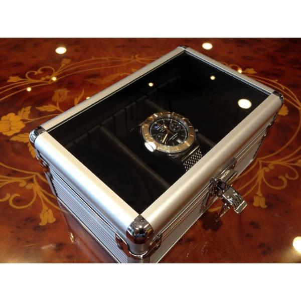 esprima エスプリマ 3本用 アルミ製 時計 収納 ウォッチ ケース yuubido-oyabu 05