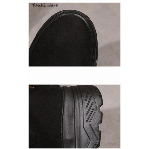 レディース ブーツ ショートブーツ ムートンブーツ 厚底 防寒 防滑 滑らない スノーブーツローヒール 裏ボア 防水 保温 滑り止め 秋冬 新作|yuuki-store|07