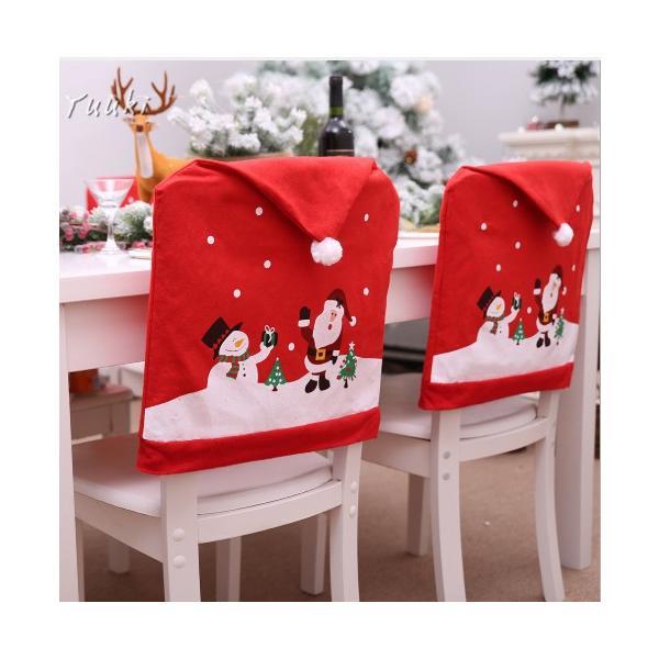 クリスマス 椅子 背もたれ カバー トナカイ お手洗い クリスマス 椅子カバー 椅子カバー チェアカバー 装飾 サンタ 雪だるま 2018新作 飾り yuuki-store