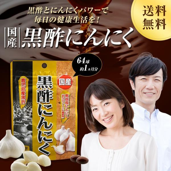 黒酢 にんにく 国産 約21-32日分 ユウキ製薬 64球 スタンドパック メール便|yuukiseiyaku|02