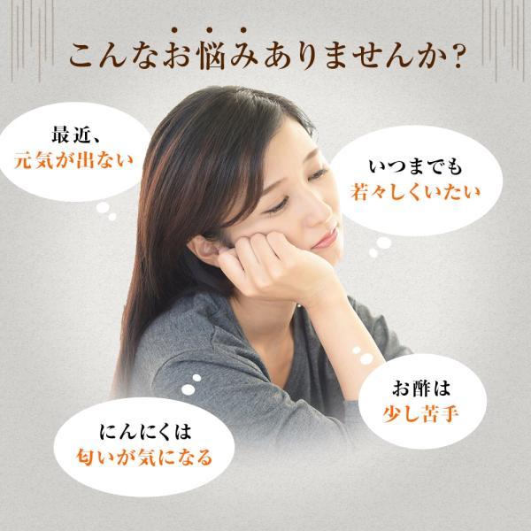 黒酢 にんにく 国産 約21-32日分 ユウキ製薬 64球 スタンドパック メール便|yuukiseiyaku|03