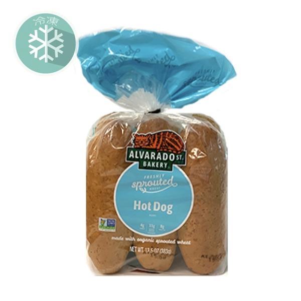 無添加冷凍パン■有機スプラウト・ホットドックバンズ(6本)発芽小麦を使用(冷凍) 383g ★原産国アメリカ