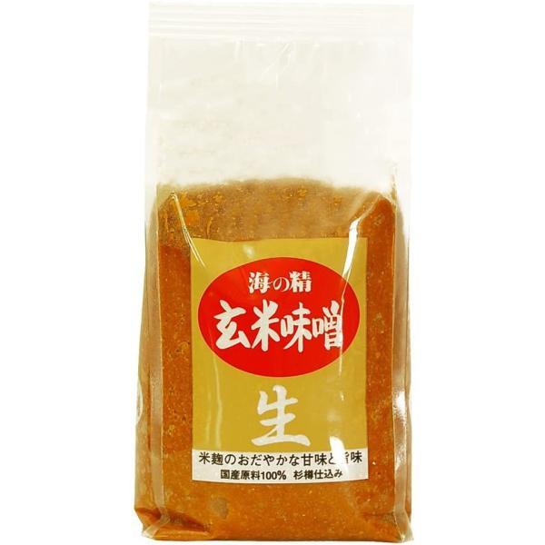 海の精 玄米味噌 1kg★国産大豆使用★杉桶を用いじっくり発酵・熟成