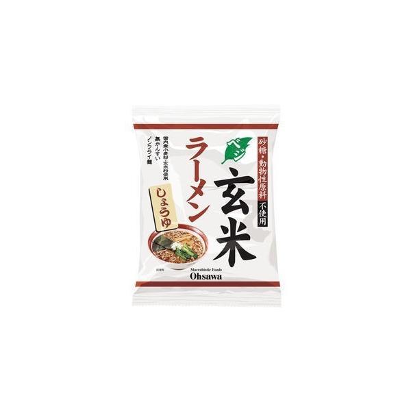 お得な箱買(送料無料)オーサワのベジ玄米ラーメン(しょうゆ) 112g(うち麺80g)【40袋・送料無料 箱売り】
