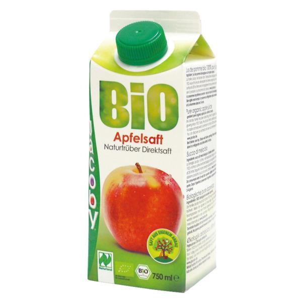 オーガニックアップルジュース(ストレート)  750ml★りんご100%★有機JAS(無農薬・無添加)★香料・酸化防止剤無添加