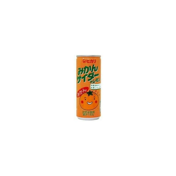 (ヒカリ) みかんサイダー+レモン 250ml 無農薬・無添加