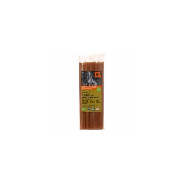 全粒粉デュラム小麦 スパゲッティ500g ★ジロロモーニ ★有機JAS(無農薬・無添加)★有機全粒粉デュラム小麦粉100% 1.7mm