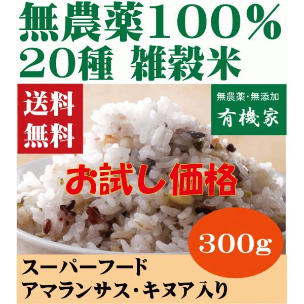 雑穀米二十穀 無農薬・無添加・有機 300g 送料無料 お試し価格