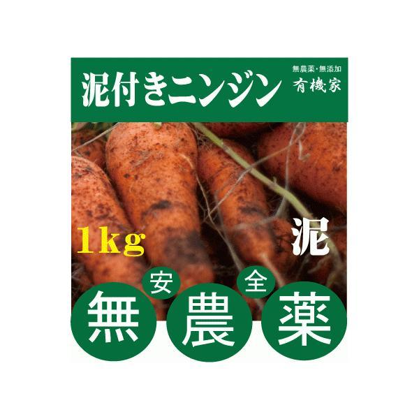 無農薬人参★ニンジン(泥つき)1kg★国産人参