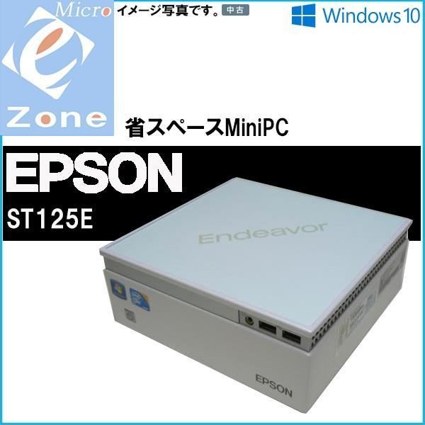 Windows10 送料無料 激安 miniPC EPSON Endeavor ST125E Core2Duo P8700-2.53GHz 2GB 80GB スーパーマルチ WPS-Office2016|yuukou-store|02