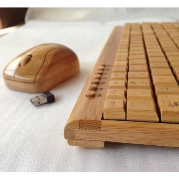 全国送料無料 パソコン PC キーボード 手作りスマート ハイテク天然竹木製 PC ワイヤレス 2.4 GHz キーボードとマウスのコンボ yuuuuuu26 04