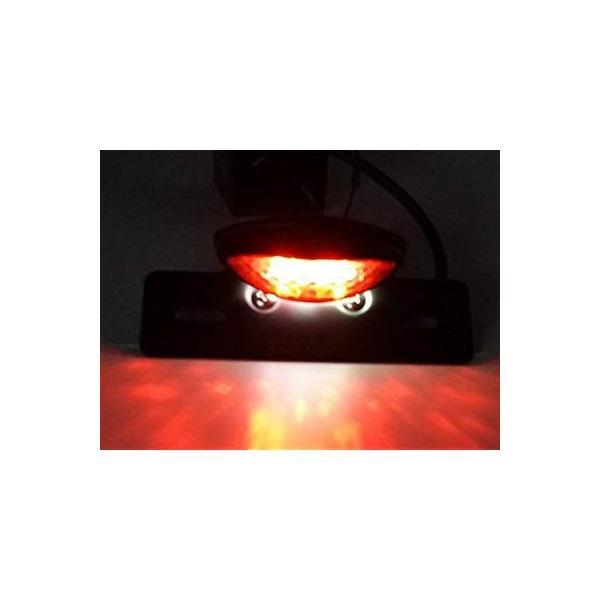 LED内蔵オートバイ、クワッド、ATVブレーキ実行ライセンスプレートマウントホルダーは、ハーレー、ホンダカワサキスズキヤマハ浮きカフェレーサークラブマ|yuuuuuu26|02
